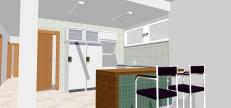 Cozinha integrada a sala