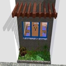 Casa Curitiba - Det. Fachada lateral 1