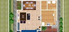 Casa Curitiba - Humanização sala-cozinha